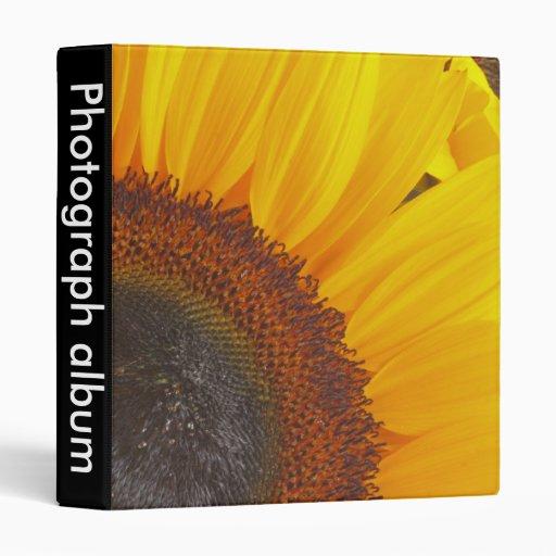 Macro Sunflower 3 Ring Binder