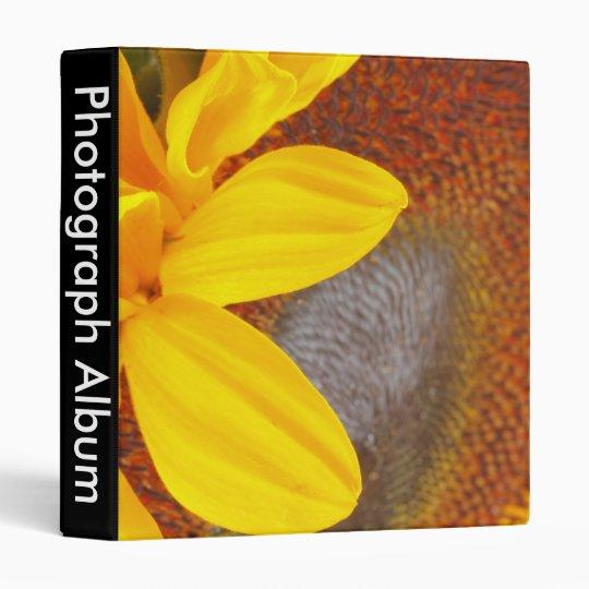 Macro Sunflower Binder