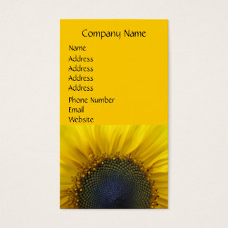 Macro Sunflower Business Card