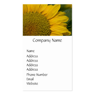 Macro Sunflower With Raindrops Double-Sided Standard Business Cards (Pack Of 100)