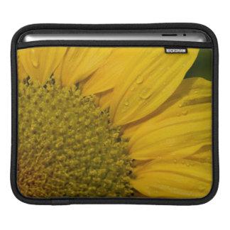 Macro Sunflower With Raindrops iPad Sleeve