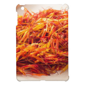 Macro view on fragrant saffron closeup iPad mini cover