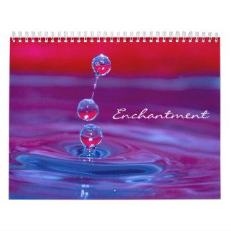 Macro Water Drops Calendar