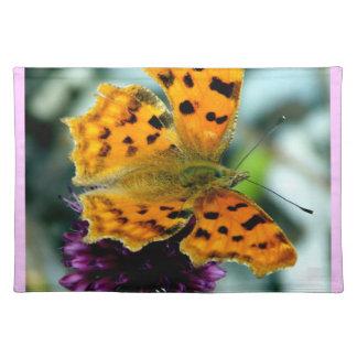 Macro Yellow Butterfly Place Mats