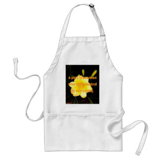 Macro Yellow Daylily Night Photography Poet Quote Adult Apron