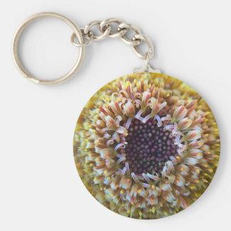 Macro Yellow Flower Center Keychain
