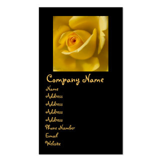 Macro Yellow Rose Double-Sided Standard Business Cards (Pack Of 100)