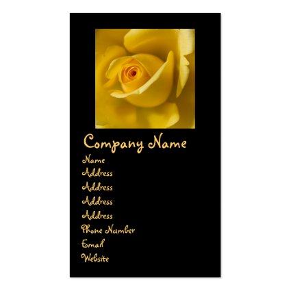 Macro Yellow Rose Business Card Templates