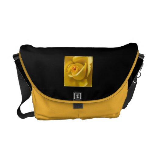Macro Yellow Rose Messenger Bag