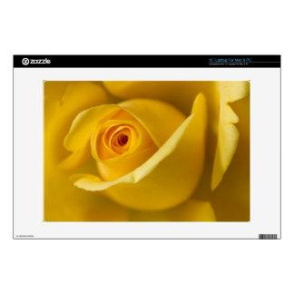 """Macro Yellow Rose 13"""" Laptop Decal"""