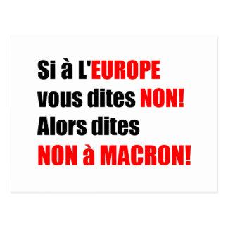 MACRON = Mondialisation - Postcard