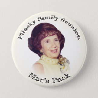 Mac's Pack Creme with Black Letters Pinback Button