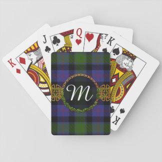 MacTaggart Tartan And Monogram Playing Cards