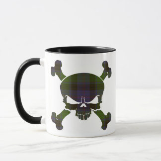 MacTaggart Tartan Skull No Banner Mug