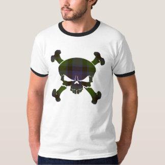 MacTaggart Tartan Skull No Banner T-Shirt