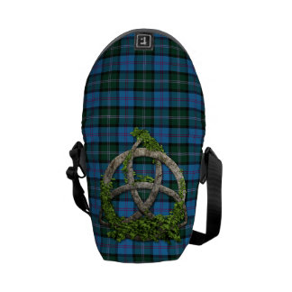 MacThomas Tartan And Celtic Trinity Knot Messenger Bag