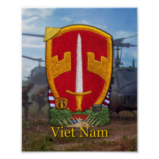 MACV SOG Military Advisors Vietnam War Patch Print