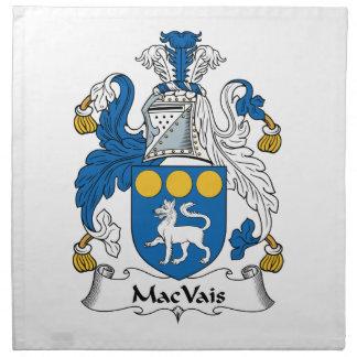 MacVais Family Crest Printed Napkin