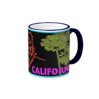 Macvy Los Angeles California Mug! Ringer Coffee Mug