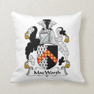 MacWorth Family Crest Throw Pillow