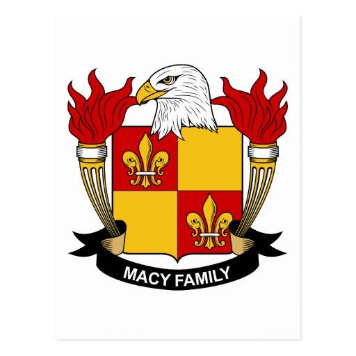 Macy Family Crest Postcard