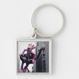 MACY'S PARADE Silver-Colored SQUARE KEYCHAIN