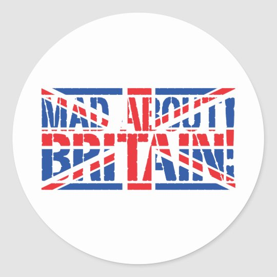 Mad About Britain Classic Round Sticker