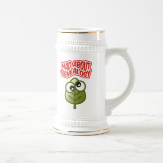 Mad About Genealogy Beer Steins