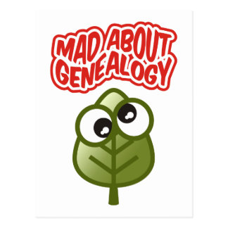 Mad About Genealogy Postcard