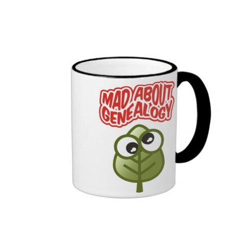 Mad About Genealogy Ringer Coffee Mug