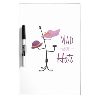 Mad About Hats Dry-Erase Board