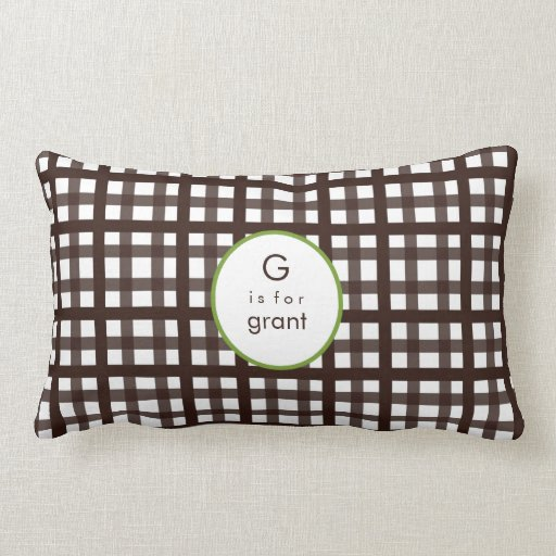 Mad About Plaid Brown Kids Pillow