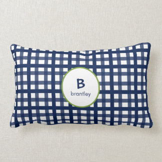 Mad About Plaid Navy Blue Kids Pillow