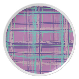 Mad About Plaid Pink/Aqua Dinner Plate