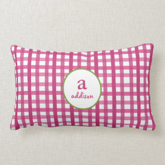 Mad About Plaid Pink Kids Pillow