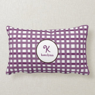 Mad About Plaid Purple Kids Pillow