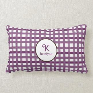 Mad About Plaid Purple Kids Pillow