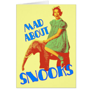 Mad About Snooks customizable notecards Card