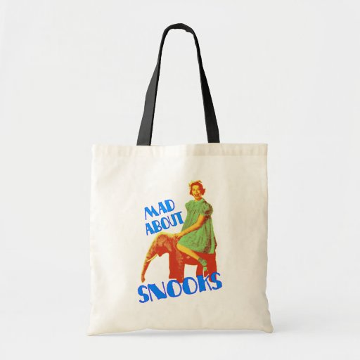 Mad About Snooks customizable tote bags
