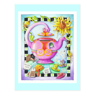 MAD ABOUT TEA PARTY POSTCARD