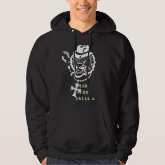 MAD AFRO SKULL-W HOODIE
