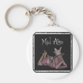 Mad Alice Snapshot 1 Basic Round Button Keychain