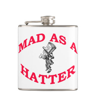 Mad as a Hatter Flask