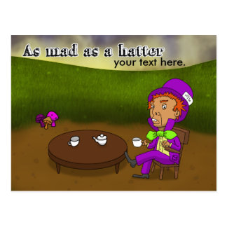 Mad as a hatter postcard