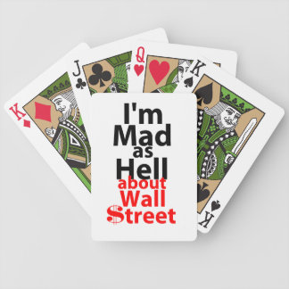 Mad as Hell Bicycle Playing Cards