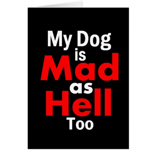 Mad as Hell Greeting Card
