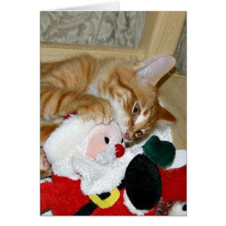 Mad at Santa Card