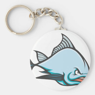 Mad Atlantic Bluefin Tuna Basic Round Button Keychain