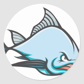 Mad Atlantic Bluefin Tuna Classic Round Sticker