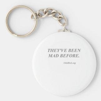 Mad Basic Round Button Keychain